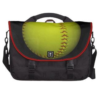Alto softball del amarillo de la visibilidad bolsas para portátil