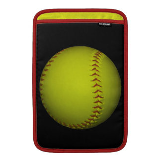 Alto softball del amarillo de la visibilidad funda macbook air