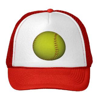 Alto softball del amarillo de la visibilidad gorra