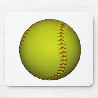 Alto softball del amarillo de la visibilidad tapetes de raton