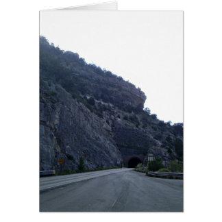 Alto túnel New México de la montaña de Rolls Tarjeton