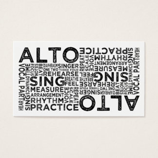 Alto Typography Business Card