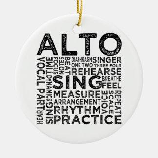 Alto Typography Ceramic Ornament
