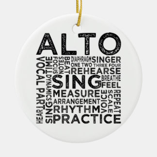 Alto Typography Double-Sided Ceramic Round Christmas Ornament
