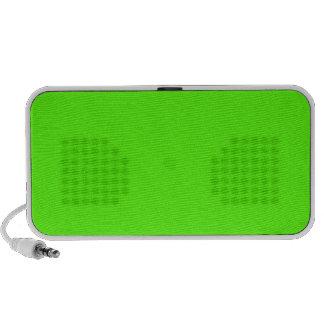 Alto verde del neón de la visibilidad laptop altavoces