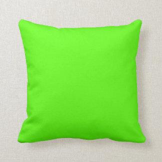 Alto verde del neón de la visibilidad almohadas
