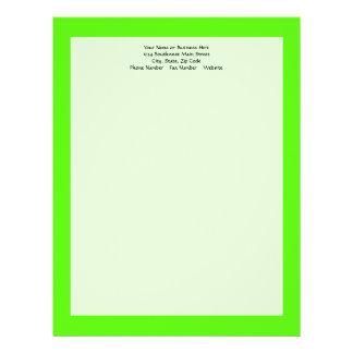Alto verde del neón de la visibilidad membrete