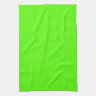 Alto verde del neón de la visibilidad toallas de mano