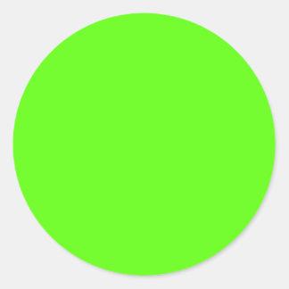 Alto verde del neón de la visibilidad pegatina redonda