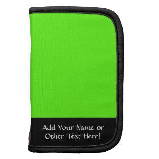 Alto verde del neón de la visibilidad organizadores