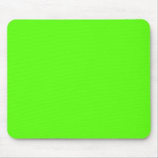 Alto verde del neón de la visibilidad alfombrillas de ratón