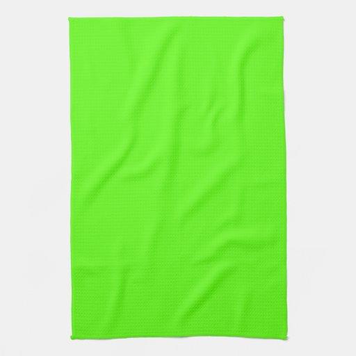 Alto verde del neón de la visibilidad toallas de cocina