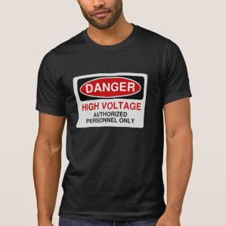 Alto voltaje del peligro camiseta