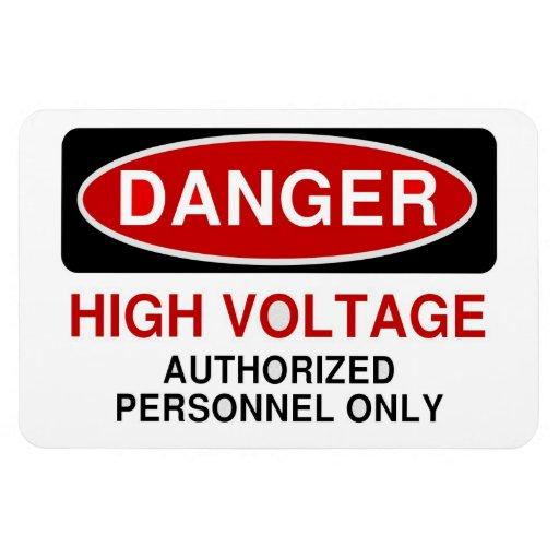 Alto voltaje del peligro imán de vinilo