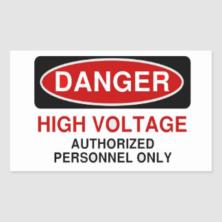Alto voltaje del peligro etiqueta