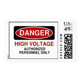Alto voltaje del peligro franqueo