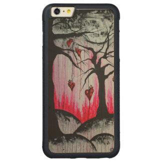 Alto - y - iPhone seco 6 del arte de los árboles Funda Para iPhone 6 Plus De Carved® De Nogal