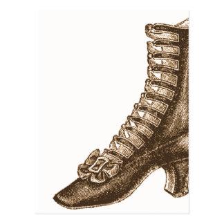 Alto zapato rematado del Victorian Postales