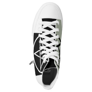 Alto zapato superior del Pentagram Zapatillas