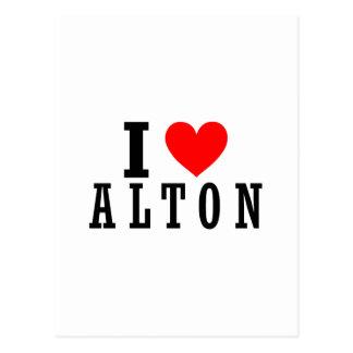 Alton, Alabama City Design Postcard