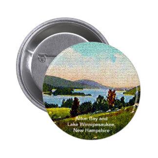 Alton Bay and Lake Winnipesaukee, New Hampshire Pinback Button