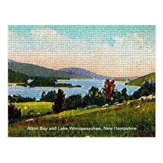 Alton Bay and Lake Winnipesaukee, New Hampshire Postcard