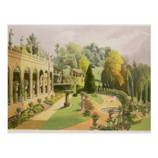 Alton Gardens, from 'The Gardens of England', 1857 Postcard