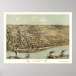 Alton, IL Panoramic Map - 1867 Poster