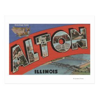 Alton, letra ScenesAlton, IL de IllinoisLarge Postales