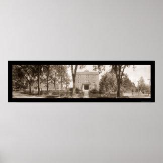 Alton Military Academy Photo 1908 Poster