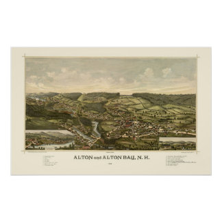 Alton, NH Panoramic Map - 1888 Poster