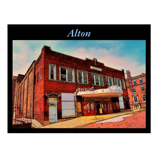 Alton Theater Postcard