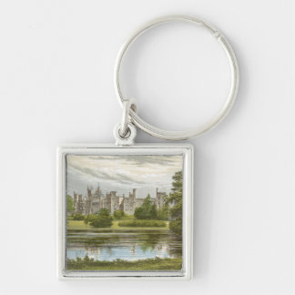 Alton Towers Silver-Colored Square Keychain