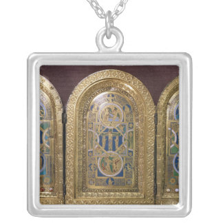 Alton Towers Triptych, c.1150 Silver Plated Necklace