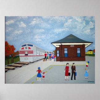 Alton Train Station Poster