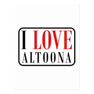 Altoona, Alabama City Design Postcard