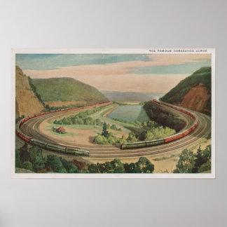 Altoona, Pennsylvania, el Curv de herradura famoso Póster
