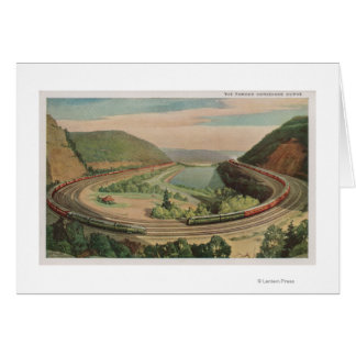 Altoona, Pennsylvania, el Curv de herradura famoso Tarjeta De Felicitación