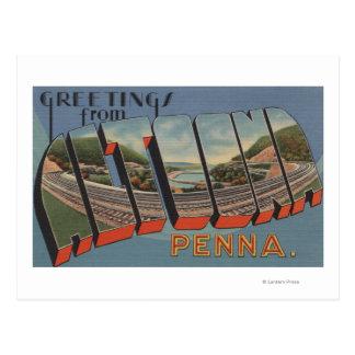 Altoona, Pennsylvania - escenas grandes de la Postal