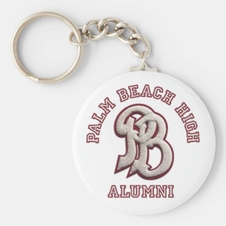 Altos alumnos del Palm Beach Llavero Redondo Tipo Pin