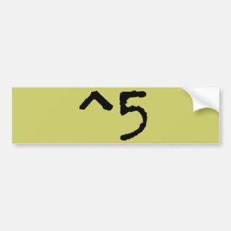 Altos cinco ^5 pegatina para auto