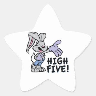 Altos cinco pegatina en forma de estrella