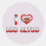 Altos del Los, CA Etiqueta Redonda