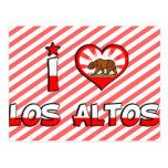 Altos del Los, CA Tarjeta Postal