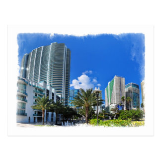 Altos edificios de la subida de Miami - postal