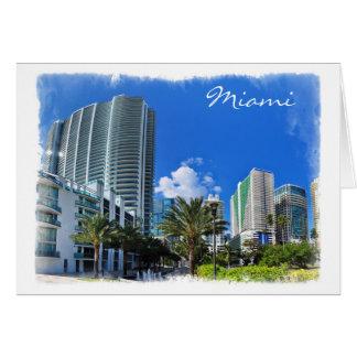 Altos edificios de la subida de Miami - tarjeta de