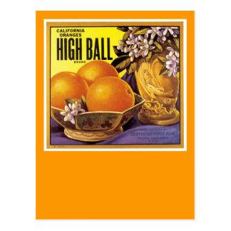 Altos naranjas de California de la bola Tarjetas Postales