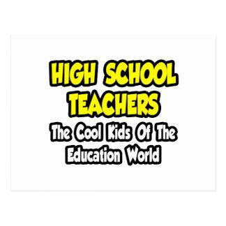 Altos profesores de escuela. Niños frescos de la e Tarjetas Postales