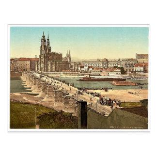 Altstadt, Dresden, Sajonia, Alemania Photochrom Postales