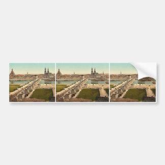 Altstadt, Dresden, seen from the Ministry of War, Bumper Sticker